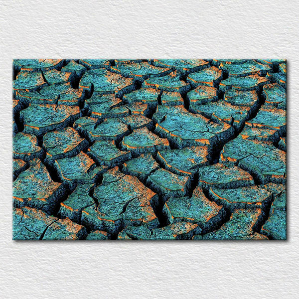 Canvas printed Impressionist artwork of care for the environment , photo of Drought the land protests framed free shipping