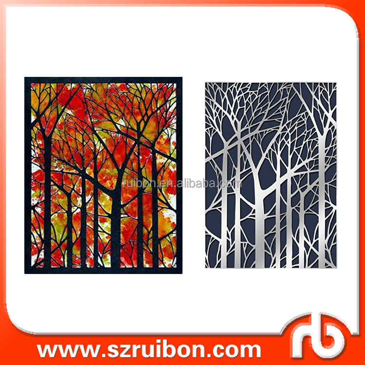 bare tree stencils for oil painting reusable drawing stencils use