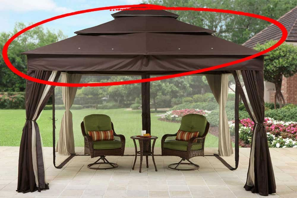 Get Quotations · Replacement Canopy for Brown Archer Ridge Gazebos by Better Homes u0026 Gardens BHG & Cheap Lowes Canopy Gazebos find Lowes Canopy Gazebos deals on ...