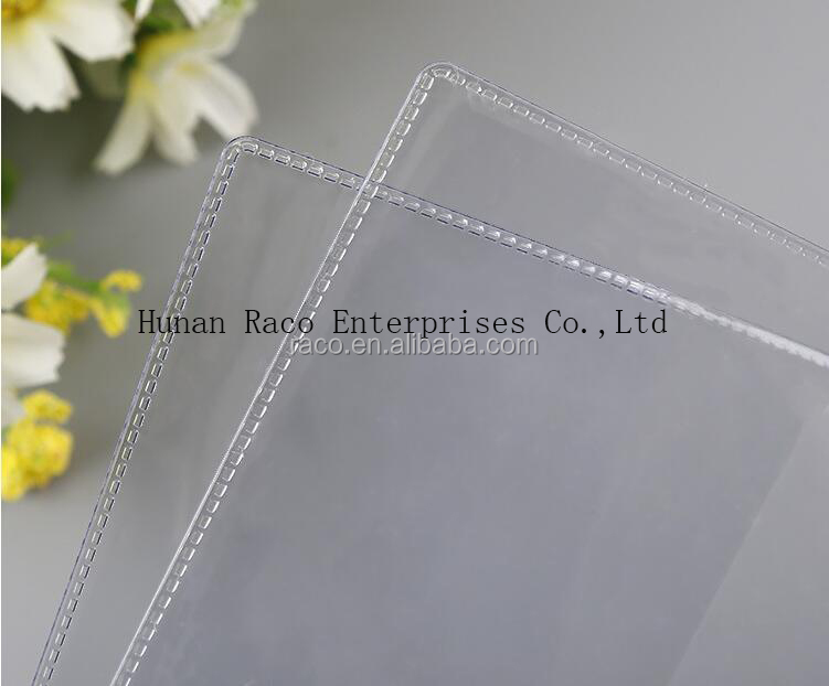 Factory Supplier Transparent School PVC Book Cover and plastic pvc card holder