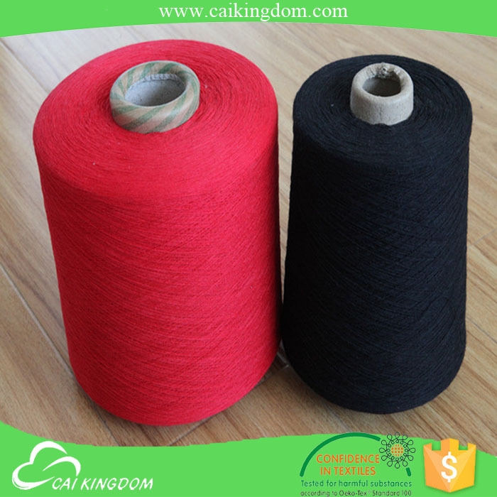 Recycled dyed cotton yarn / knitting yarn/weaving yarn manufacturer in china,