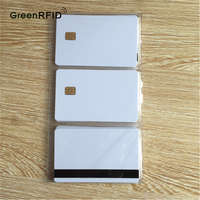 Writable Contact IC Chip FM4428 White Smart PVC Card Compatible sle4428 Blank Card for Entry Access System