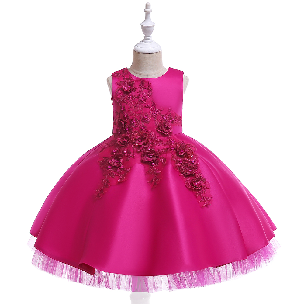 Leopard Painting solid  Designer One Piece Kids Clothes Online Golden Luxury Lace Embroidery Summer  Frock Designs Girls Party Dresses L5056, Hot pink;red;champagne;pink - buy  at the price of $8.99 in alibaba.com | imall.com
