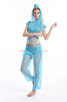 Adult sexy Princess Jasmine Genie Belly Dancer Arabian Nights Fancy Dress Costume  sc 1 st  Alibaba & Adult Sexy Princess Jasmine Genie Belly Dancer Arabian Nights Fancy ...