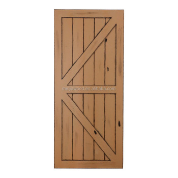 38 In X 84 In Barn Door Sliding Solid Wood Finished Pine