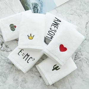 Cheap custom personalized 100% cotton wash towels hand towel with logo