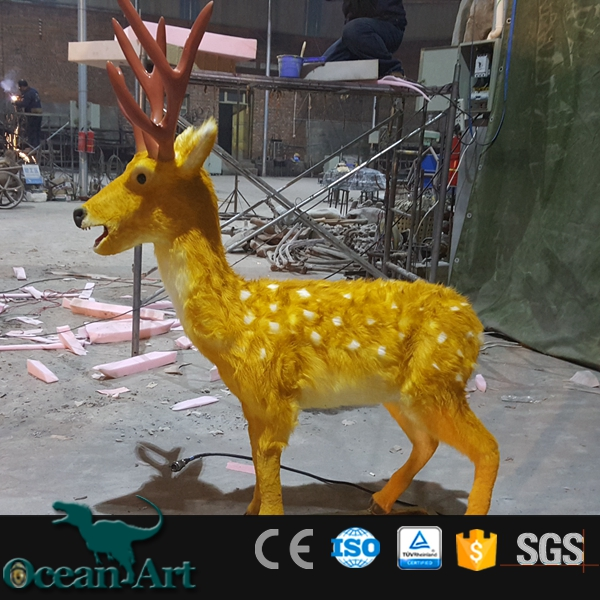 OAD1863 large metal animal sculpture life size deer statues lion statues for sale