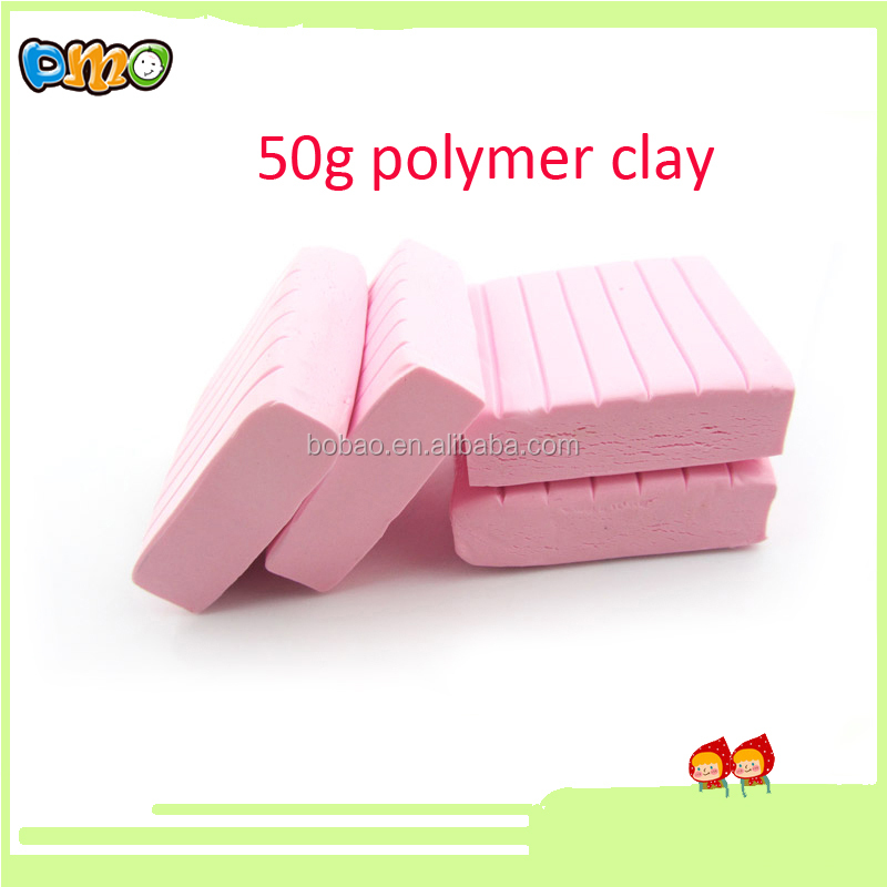 Good quality oven bake free Polymer Clay with free sample pink colors