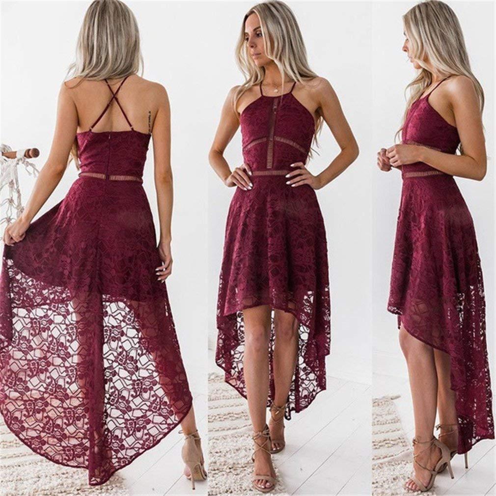 7d1ccfcd1221 Get Quotations · Meolin Women Bandage Irregular Hem Bodycon Dress Evening  Party Cocktail Mini Dress