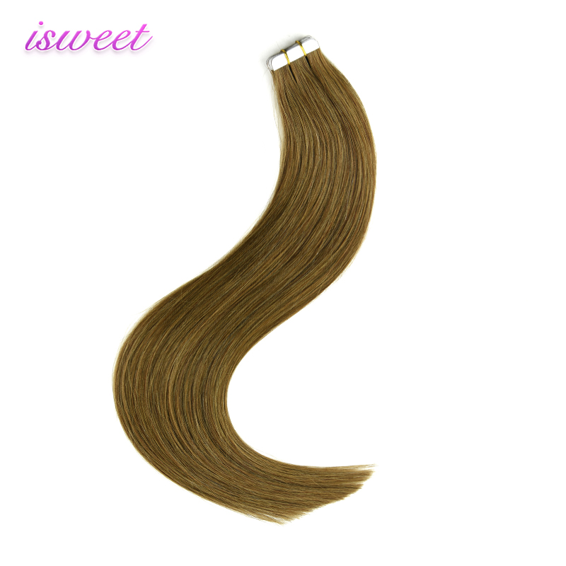 Best seller 10A grade double drawn 100% virgin tape hair extensions unprocessed straight remy human hair extensions