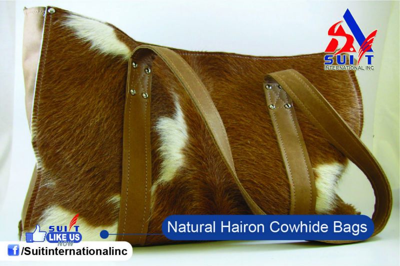 Premium Quality Natural Cowhide hair on Bags