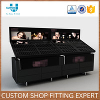Factory Supply Custom Beauty Salon Shop Fittings Cosmetic Display Stand Showcase