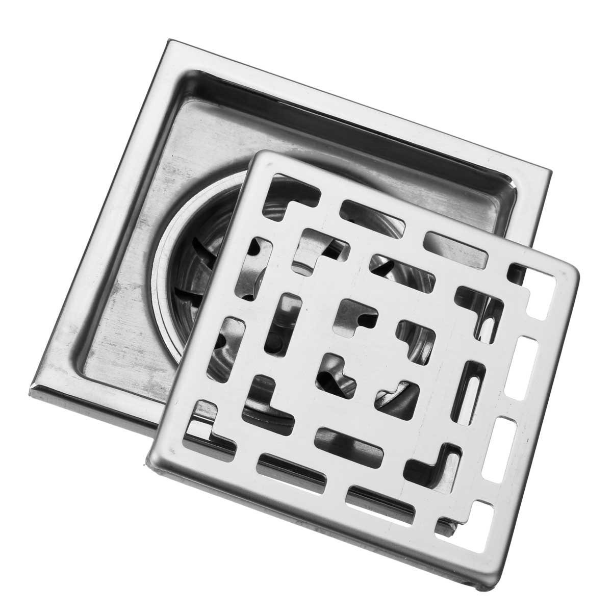 10x10cm Three Layers Square Stainless Steel Bathroom Floor Drain Water Strainer Fliter / : . 10x10cm Three Layers Square Stainless Steel Bathroom Floor Drain Water Strainer Fliter . . This flo