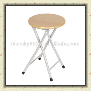 2017 High Quality Portable Folding Stool Folding Round Wooden Garden Stool