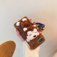 Plush cute monkey&donkey phone cases covering protective for iphone 6 6s 6plus 6splus