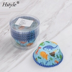 Large Stock, High Quality Low Price Dinosaur Greaseproof Paper Cupcake Liner Muffin Baking Cup Cake Case PQ340