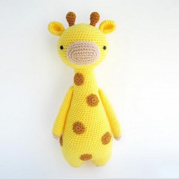 Amigurumi patrones. Tall patron de jirafa con manchas ...