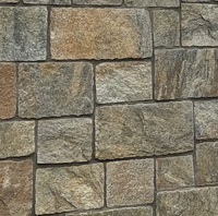 Rusty Quartzite Castle Stone Wall Stack Panel For Wall Cladding