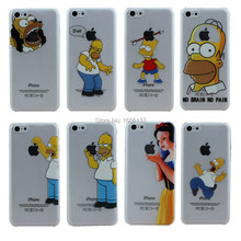 1Piece Cases Transparent Cover For Apple iPhone5C i Phone iPhone 5C Case Shell Homer Simpson Simpsons Eat Mermaid