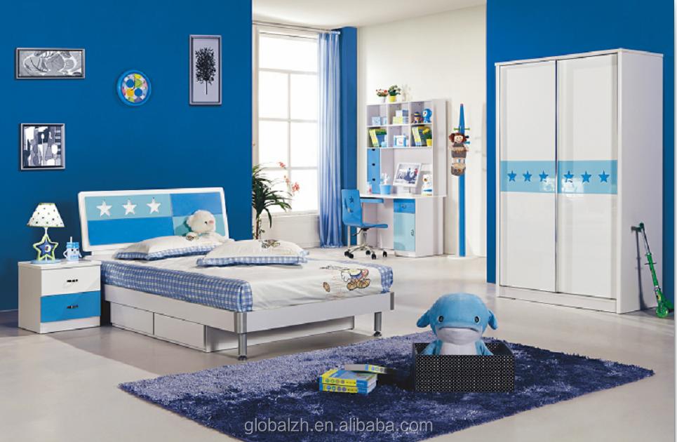 2017 Diseño Popular Muchacho Azul Cama Príncipe Habitación Cama De ...