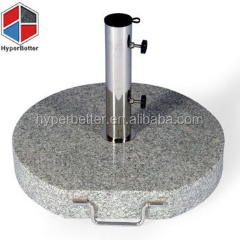 With wheels 35KGS round granite outdoor umbrella stand