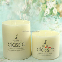 3 wicks pillar candle with custom LOGO printed