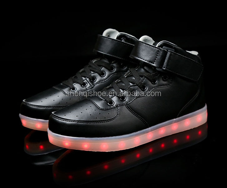 2017 Top selling in Canada market of high top led sneakers for unisex