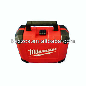 Blow molded custom plastic red toolbox