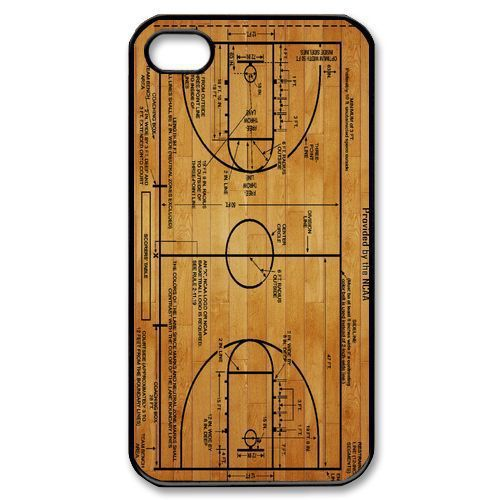 Basketball Court Diagram Cover Case for iPhone 4 4S 5 5S 5C 6 Plus Touch5 Samsung Galaxy S3 S4 S5 Mini S6 Edge Note 2 3 4 A3 A5