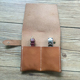 Handmade Tan Leather Travel Watch Pouch