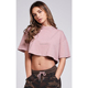 MS-2136 Custom Women Cotton Jersey Crop Tee Dropped Shoulder Oversized Fit T Shirt