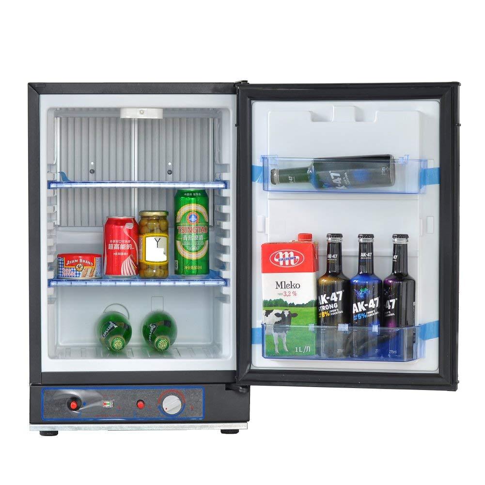 SMETA Electric/Gas Propane Absorption Refrigerator Portable Truck Fridge 12V/110V,1.4 Cu ft