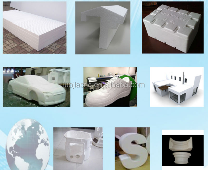 3D EPS EVA Styrofoam Foam Die cnc cutting engraving carving machine