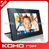 7 inch hot selling full function digital photo frame