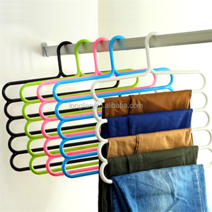 Five-layer Space-saving Multifunctional Anti Skid Dry Hanger Creative Towel Rack