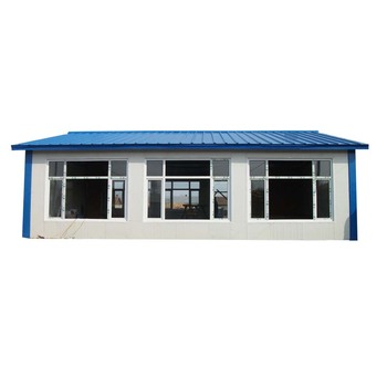 Chinese Prefabricated Small Steel Frame House Plans Sandwich Panel ...