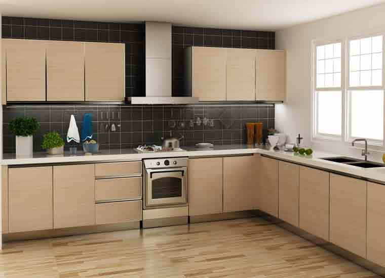 Kitchen Cabinets Ideas made in china kitchen cabinets : Tanzania Project L-shaped Kitchen Cabinets Factory Made In China ...