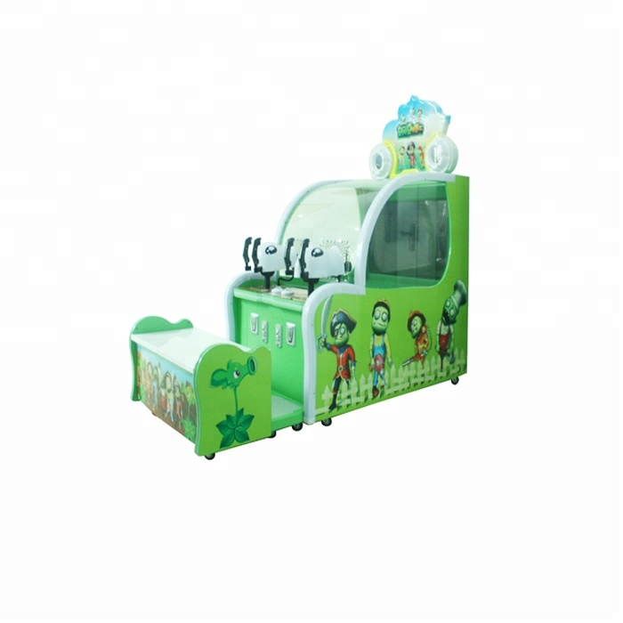 Coin operated zombie ball shooting game machine/plants vs zombies 2 game/zombie games 2 player фото