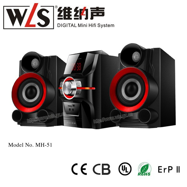 WLS 2.0 multimedia speaker system MH-51 with TV tuner and radio used in home