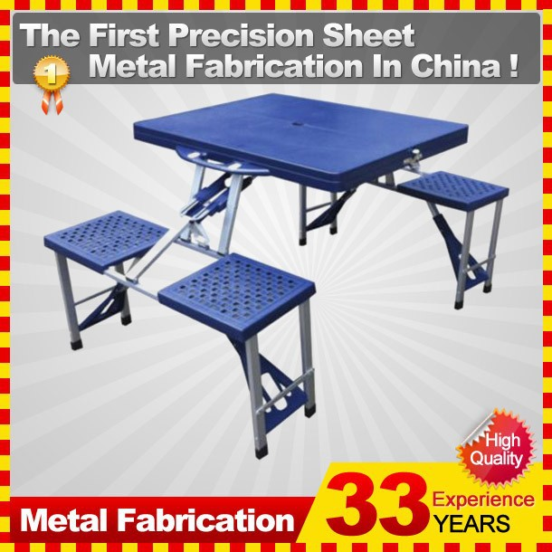Folding Abs Aluminium Picnic Table And Chairs Portable Camping ...