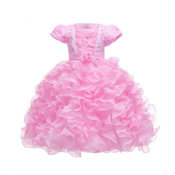 Baby Girl Dress Factory Vintage Party Dresses for Girls 1st Year Birthday Party Princess dress 0-6yrs Baby Clothing Costume