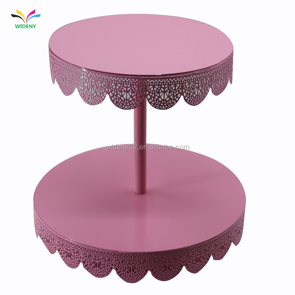 White Powder Coated Creative Wedding cake Metal Cake pop Stand