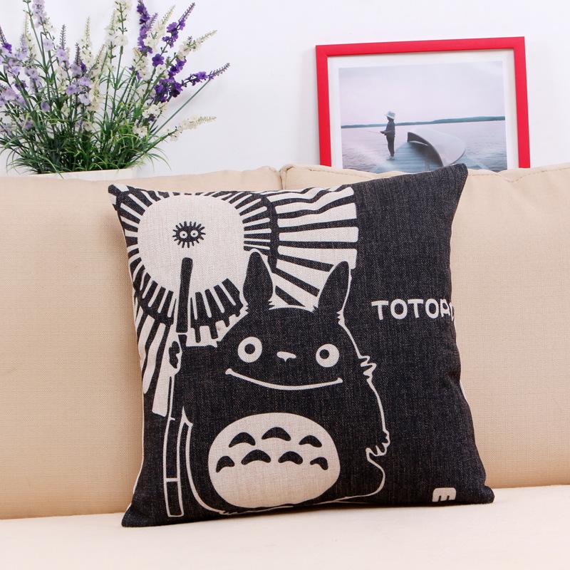 Scandinavian Coussin Cuscini Almofada 45 X 45cm Anime Totoro Decorative Pillow Living Room Couch Cushion Cojin Decorativos Pouf
