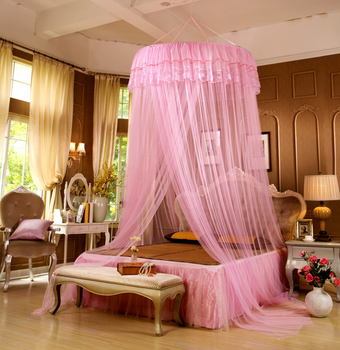 Kid Size Mosquito Net Bed Canopy Princess Round Lace Curtain Dome Bed For Family Travel & Kid Size Mosquito Net Bed Canopy Princess Round Lace Curtain Dome ...