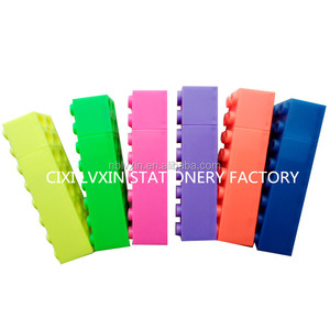 Cixi Lvxin Stationery Factory: MSFD Toy Brick Highlighter