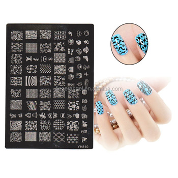 Large Size Nail Stamp Plates Retail Yh801 Yh810 Fashion Designs
