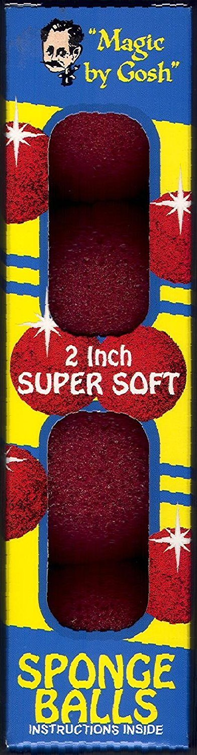 "Red Magic Sponge Balls - 2"", Super Soft By Gosh"