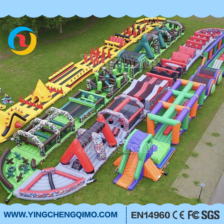 High Quality Giant Adult the beast Inflatable Obstacle Course , outdoor obstacle course equipment for sale