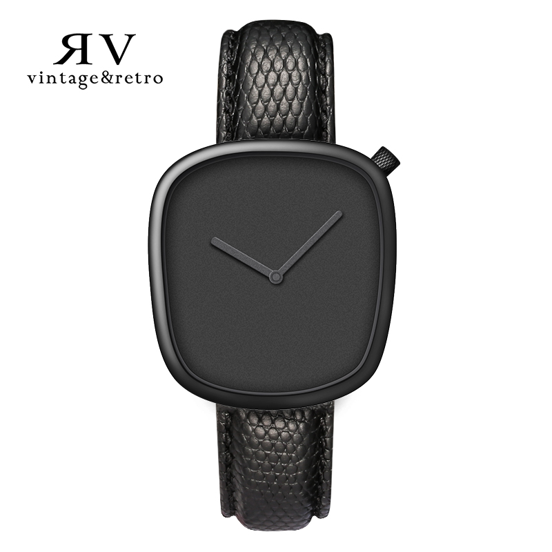 VR vintage&retro brand watch sport gold plated OEM minimal pebble black wristwatch luxury OEM couple women watches for <strong>mens</strong>