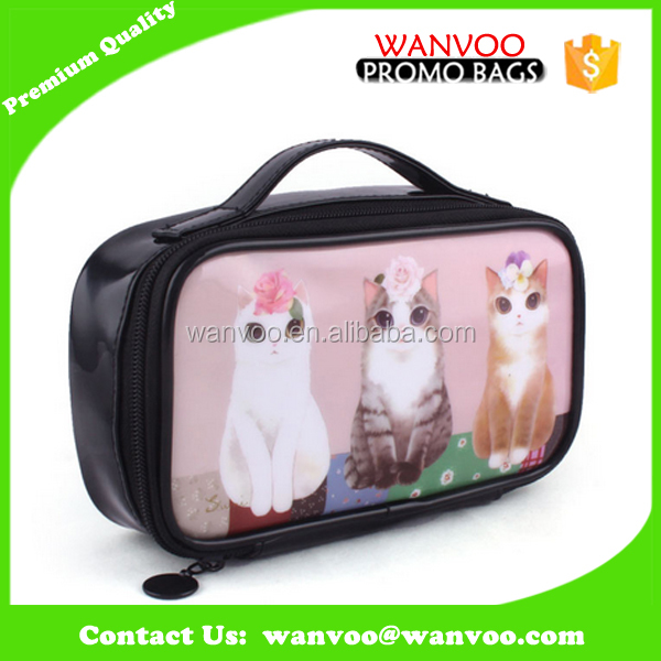 Heat Transfer DIY Custom PVC Cosmetic Bag For CD &DVD &Makeup